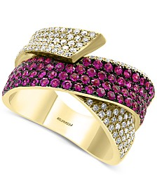 EFFY® Ruby (1 ct. t.w.) & Diamond (1/2 ct. t.w.) Ring in 14k Gold