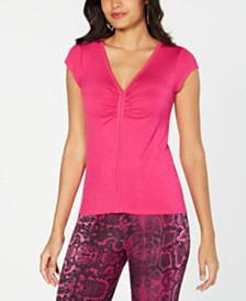 Thalia Sodi Ruched V-Neck Top, Created for Macy's