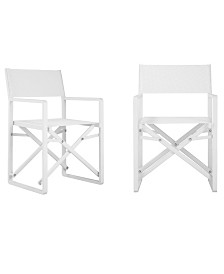 Pangea Home Set of 2 Sunset Directors Chairs