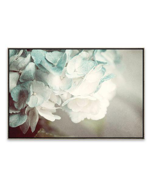 Artissimo Designs Mint Hydrangea Framed Printed Canvas