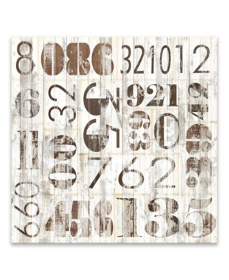 """Weathered Numbers I Printed Canvas Art - 20"""" W x 20"""" H x 1.25"""" D"""