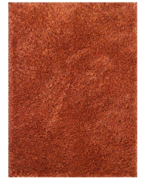 "Loloi Area Rug, Dion Shag DS01 Rust 3'6"" x 5'6"""