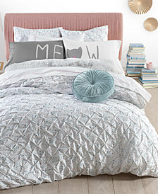 Whim by Martha Stewart Collection Pleated Drop Bedding Collection, Created for Macy's