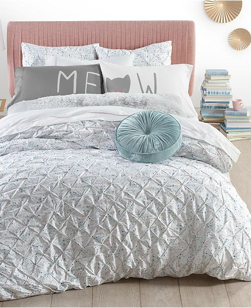 Martha Stewart Collection Pleated Drop Comforter Set Collection, Created for Macy's