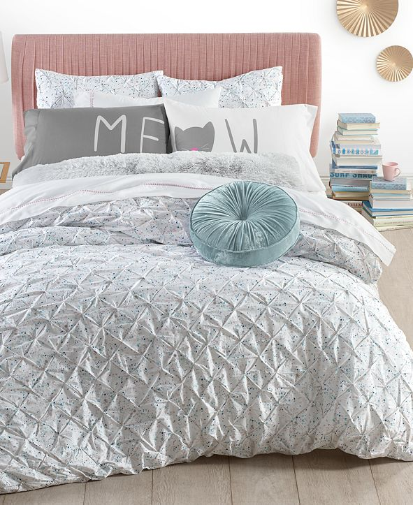 Martha Stewart Collection Pleated Drop Bedding Collection, Created for Macy's