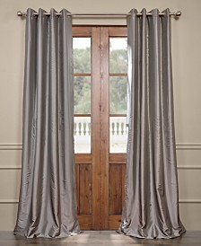 "Exclusive Fabrics & Furnishings Grommet Blackout Taffeta 50"" x 84"" Curtain Panel"