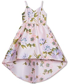 Little Girls Floral-Print Mikado Dress