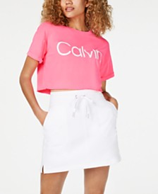 Calvin Klein Performance Logo Cropped T-Shirt