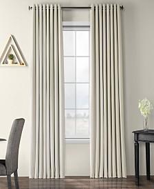 "Exclusive Fabrics & Furnishings Signature Extra Wide Grommet Blackout Velvet 100"" x 108"" Curtain Panel"