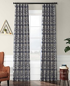"Exclusive Fabrics & Furnishings Firenze Flocked 50"" x 96"" Curtain Panel"