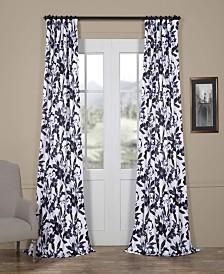 "Exclusive Fabrics & Furnishings Hibiscus Blackout 50"" x 108"" Curtain Panel"