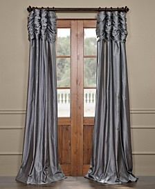 "Exclusive Fabrics & Furnishings Ruched Taffeta 50"" x 84"" Curtain Panel"