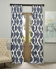 "Ikat Printed Cotton 50"" x 108"" Curtain Panel"