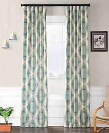 "Exclusive Fabrics & Furnishings Henna Blackout 50"" x 108"" Curtain Panel"