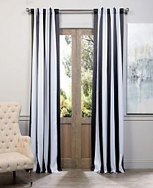 "Exclusive Fabrics & Furnishings Awning Stripe Blackout 50"" x 84"" Curtain Panel"