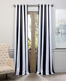 """Exclusive Fabrics & Furnishings Awning Stripe Grommet Blackout 50"""" x 108"""" Curtain Panel"""