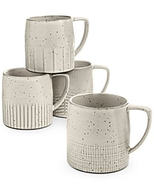Rustic Weave Mugs, Set of 4