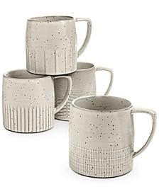 Rustic Weave Mugs, Set of 4