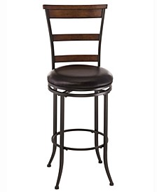 Cameron Swivel Ladder Back Bar Height Stool