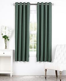 "Exclusive Fabrics & Furnishings Bellino Grommet Blackout 50"" x 63"" Curtain Panel"