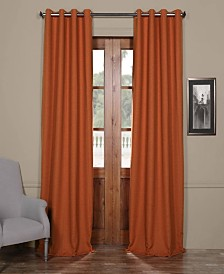 "Exclusive Fabrics & Furnishings Bellino Grommet Blackout 50"" x 84"" Curtain Panel"