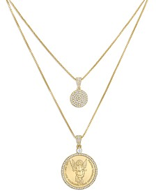 ZAXIE Angel Gold Coin Layered Necklace
