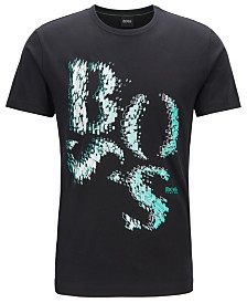BOSS Men's Tee 3 Regular-Fit Logo-Artwork Cotton T-Shirt