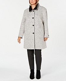 Plus Size Stand-Collar Walker Coat, Created For Macy's