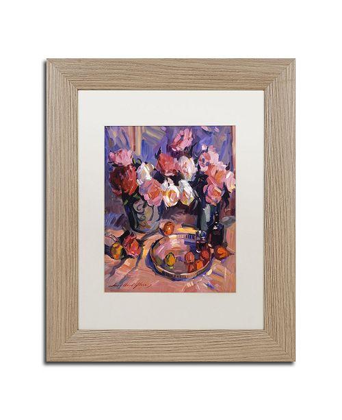 "Trademark Global David Lloyd Glover 'Still Life Apres Manet' Matted Framed Art - 11"" x 14"""