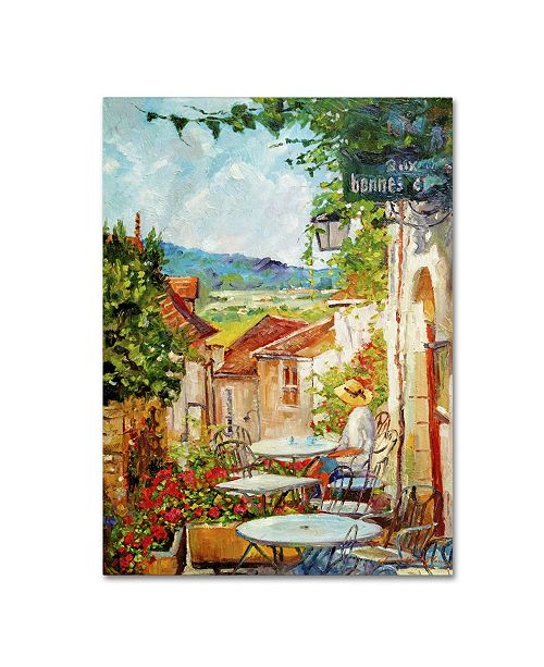 "Trademark Global David Lloyd Glover 'Provence Cafe Morning' Canvas Art - 14"" x 19"""