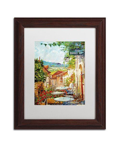 "Trademark Global David Lloyd Glover 'Provence Cafe Morning' Matted Framed Art - 11"" x 14"""