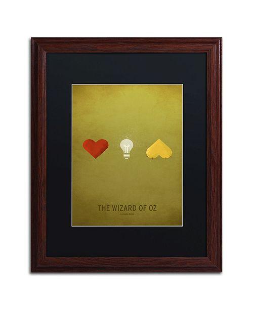 "Trademark Global Christian Jackson 'Oz' Matted Framed Art - 16"" x 20"""