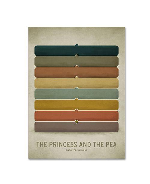 "Trademark Global Christian Jackson 'Princess Pea' Canvas Art - 14"" x 19"""
