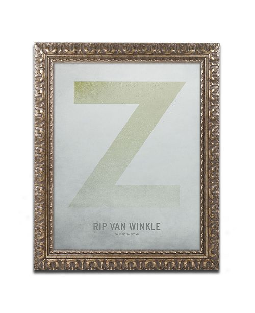 "Trademark Global Christian Jackson 'Rip Van Winkle' Ornate Framed Art - 16"" x 20"""