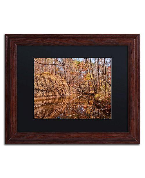 "Trademark Global Jason Shaffer 'Beaver Creek 6' Matted Framed Art - 14"" x 11"""
