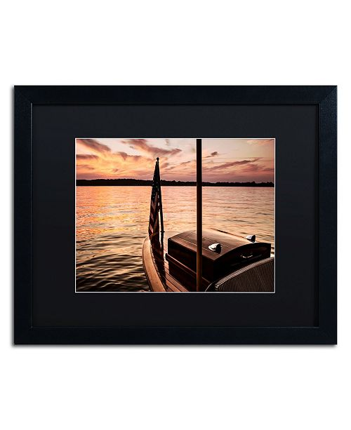 "Trademark Global Jason Shaffer 'Chippewa Lake' Matted Framed Art - 20"" x 16"""