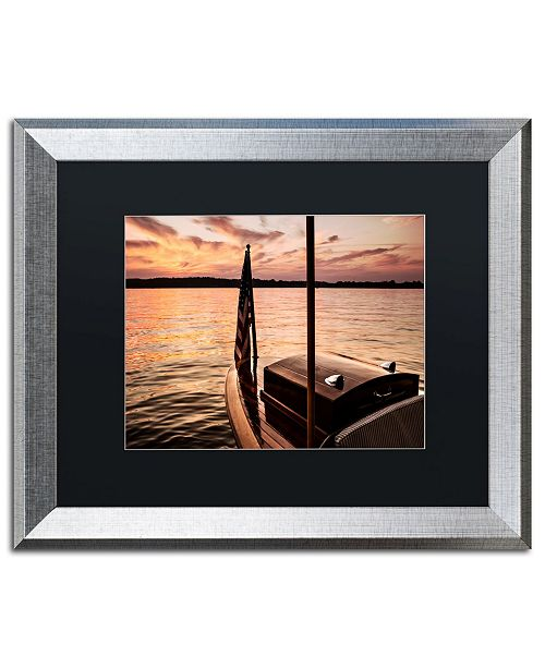 "Trademark Global Jason Shaffer 'Chippewa Lake' Matted Framed Art - 20"" x 16"""