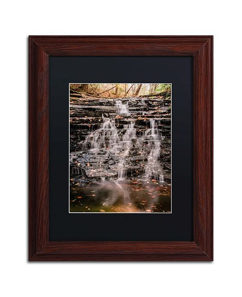 "Trademark Global Jason Shaffer 'Hidden Falls' Matted Framed Art - 11"" x 14"""