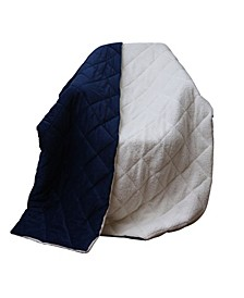 Luxury Cozy Soft Square Quilted Fleece Throw Blanket