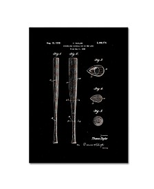 "Claire Doherty 'Baseball Bat Patent 1939 Black' Canvas Art - 18"" x 24"""