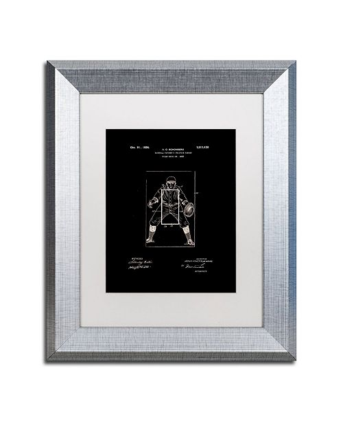 "Trademark Global Claire Doherty 'Practice Target Patent 1924 Black' Matted Framed Art - 11"" x 14"""