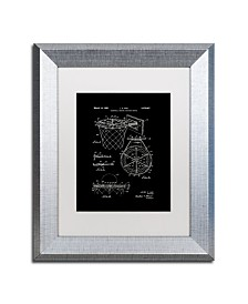 """Claire Doherty 'Basketball Hoop Patent 1965 Black' Matted Framed Art - 11"""" x 14"""""""