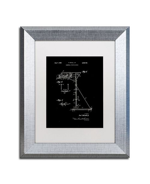 """Trademark Global Claire Doherty 'Practice Device Patent Part 1 Black' Matted Framed Art - 11"""" x 14"""""""