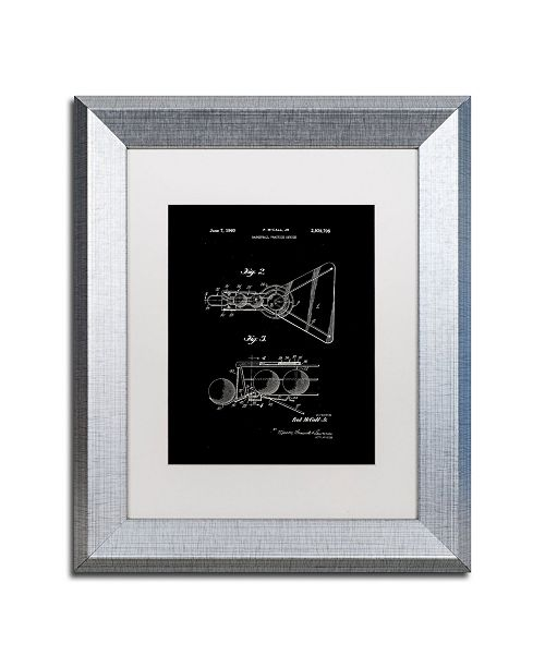"""Trademark Global Claire Doherty 'Practice Device Patent Part 2 Black' Matted Framed Art - 11"""" x 14"""""""
