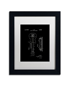 """Claire Doherty 'Gibson Electric Guitar Patent Black' Matted Framed Art - 11"""" x 14"""""""
