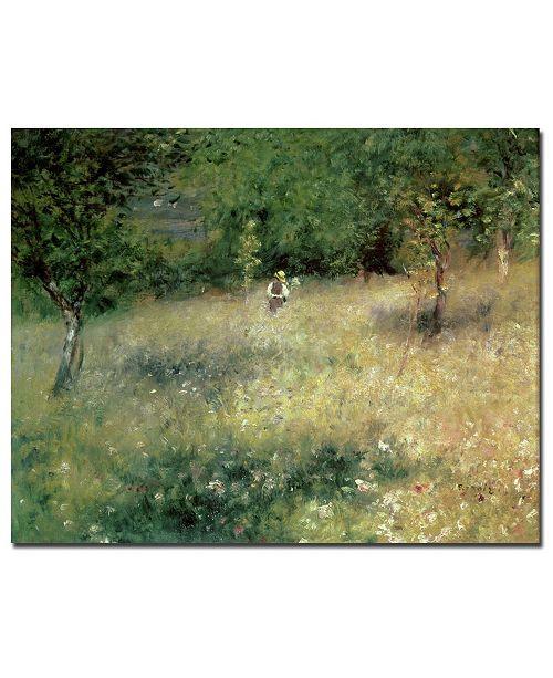 "Trademark Global Pierre Auguste Renoir 'Spring at Catou 1872-5' Canvas Art - 24"" x 18"""