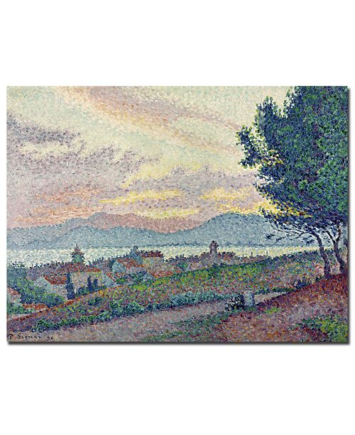 "Trademark Global Paul Signac 'St. Tropez, Pinewood, 1896' Canvas Art - 24"" x 18"""