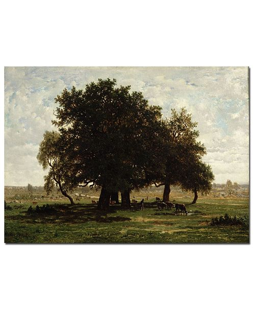 """Trademark Global Pierre Rousseau 'Hold Oaks, Apremont, 1850' Canvas Art - 47"""" x 30"""""""