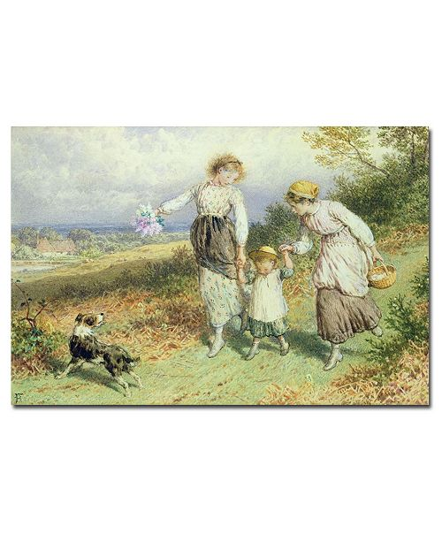 """Trademark Global Myles Foster 'Returning from the Village' Canvas Art - 24"""" x 16"""""""