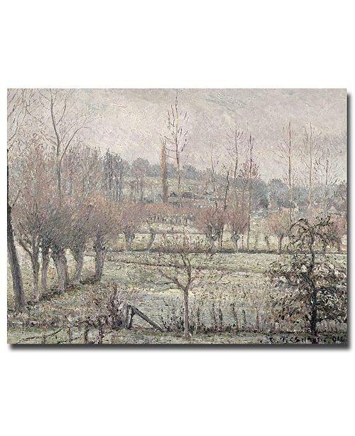 "Trademark Global Camille Pissarro 'Snow Effect at Eragny, 1894' Canvas Art - 24"" x 18"""